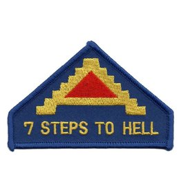 "MidMil Embroidered 7th Army Patch ""Seven Steps To Hell"""