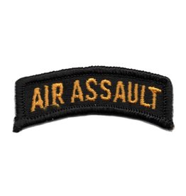 Embroidered Gold on Black Army Air Assault Tab Patch