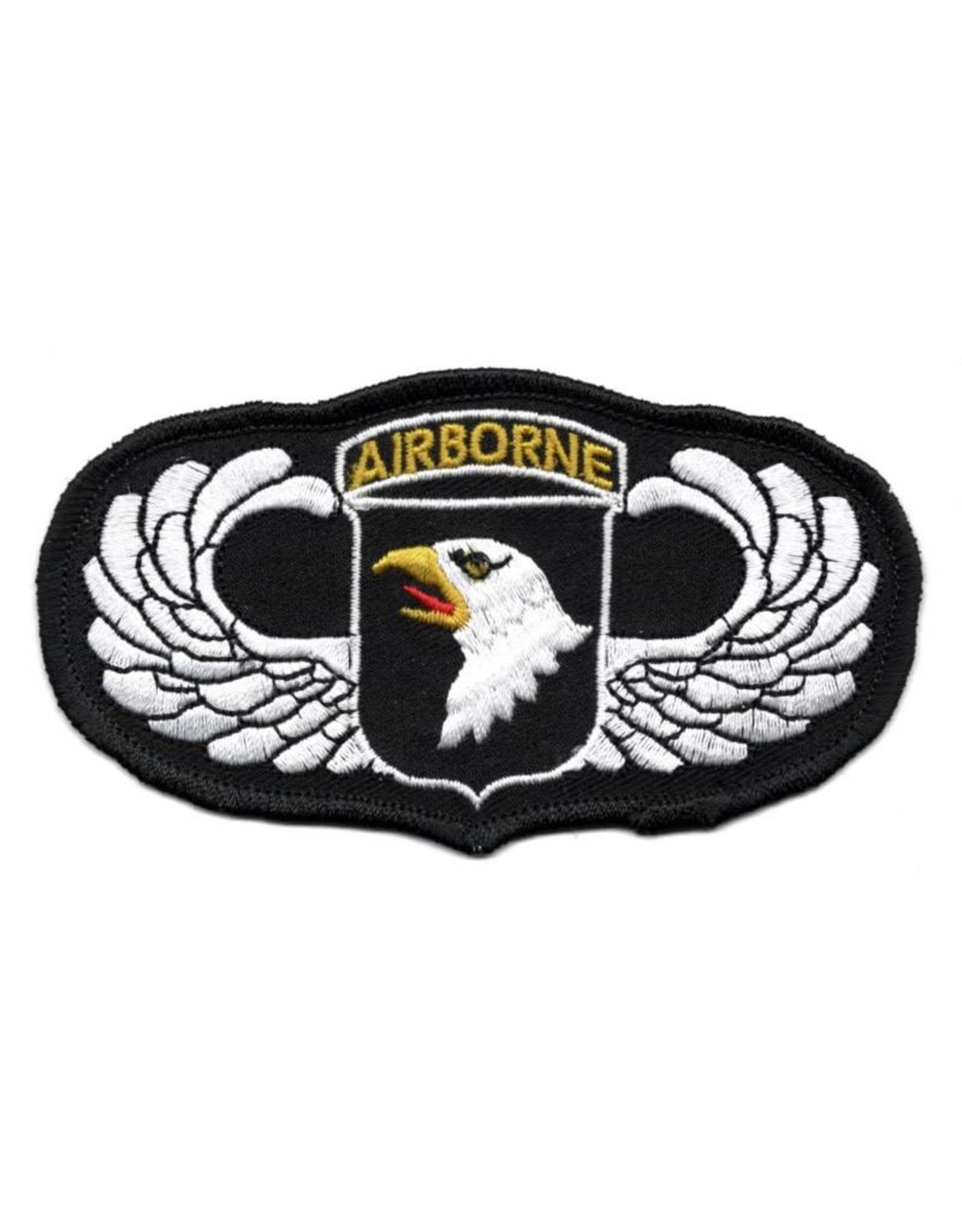 "MidMil Embroidered 101st Airborne Wings Patch with Emblem 4.5"" wide x 2.5"" high"