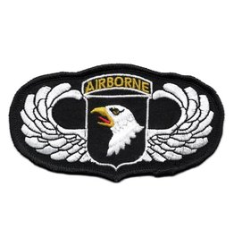 Embroidered 101st Airborne Wings Patch with Emblem