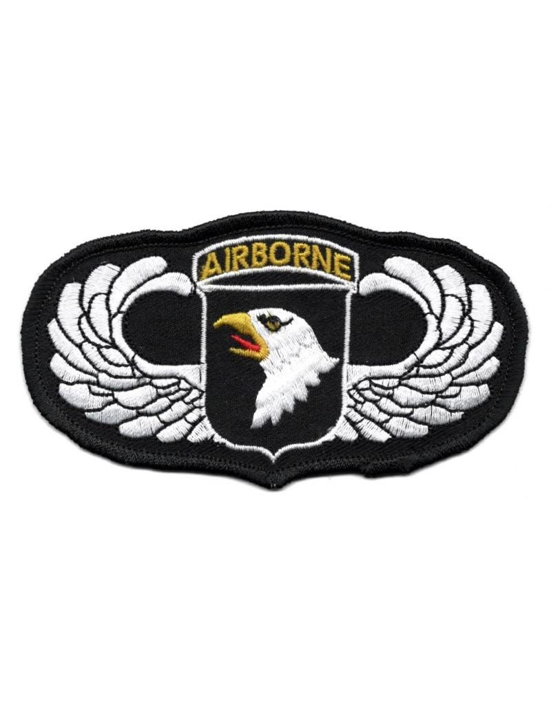 """MidMil Embroidered 101st Airborne Wings Patch with Emblem 4.5"""" wide x 2.5"""" high"""