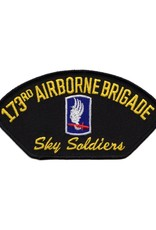 "MidMil Embroidered 173rd Airborne Patch with Emblem and Motto 5.3"" wide x 2.8"" high"