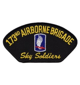 MidMil Embroidered 173rd Airborne Patch with Emblem and Motto