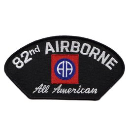 "MidMil Embroidered Army 82nd Airborne Patch with Emblem and Motto 5.2"" wide x  2.8"" high."