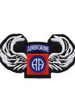 """MidMil Embroidered Army 82nd Airborne Emblem and Wings Patch 4"""" wide x 2.2"""" high."""