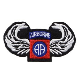 "MidMil Embroidered Army 82nd Airborne Emblem and Wings Patch 4"" wide x 2.2"" high."