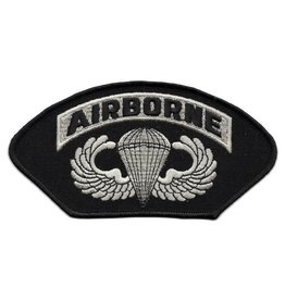 MidMil Embroidered Army Airborne Patch with Parachute Wings