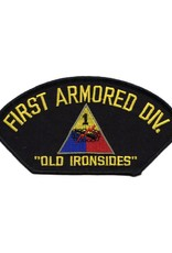 """MidMil Embroidered 1st Armored Division Patch with Emblem and Motto 5.3"""" wide x 2.8"""" high"""