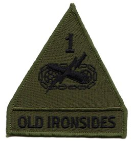 MidMil Embroidered Subdued 1st Armored Division Emblem and Motto Patch