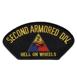 "MidMil Embroidered 2nd Armored Division Patch with Emblem and Motto 5.3"" wide x 2.8"" high"