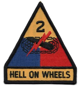 Embroidered 2nd Armored Division Emblem Patch