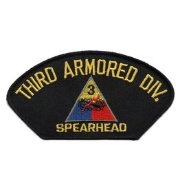 MidMil Embroidered 3rd Armored Division Patch with Emblem