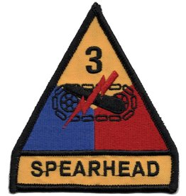 MidMil Embroidered 3rd Armored Division Emblem Patch