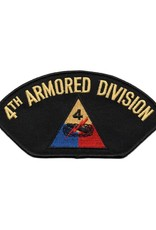 MidMil Embroidered 4th Armored Division Patch with Emblem