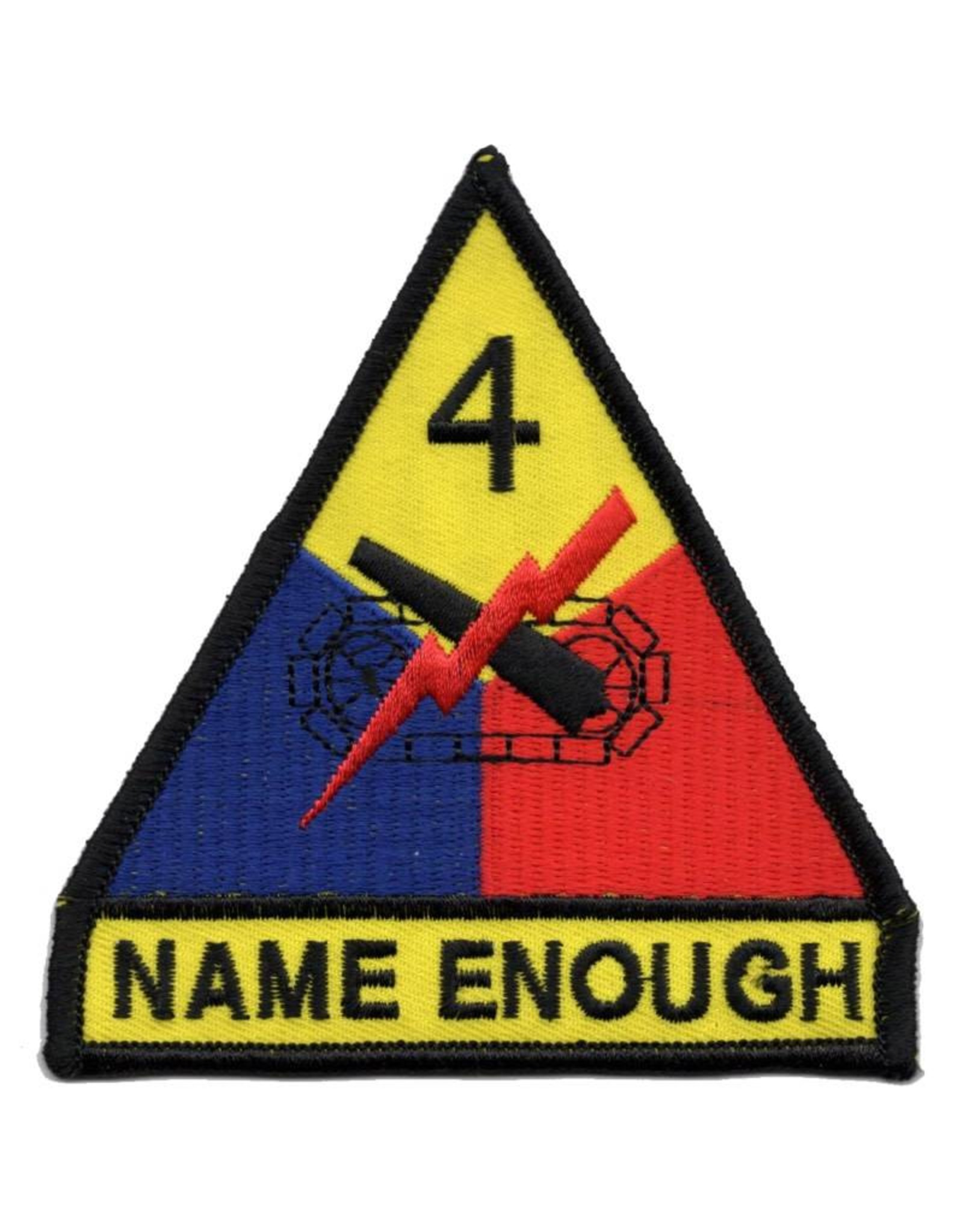 "MidMil Embroidered 4th Armored Division Emblem Patch with ""Name Enough"""