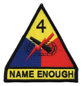 MidMil Embroidered 4th Armored Division Emblem Patch with Motto
