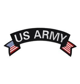 MidMil Embroidered U.S. Army Rocker Patch with Flag tails