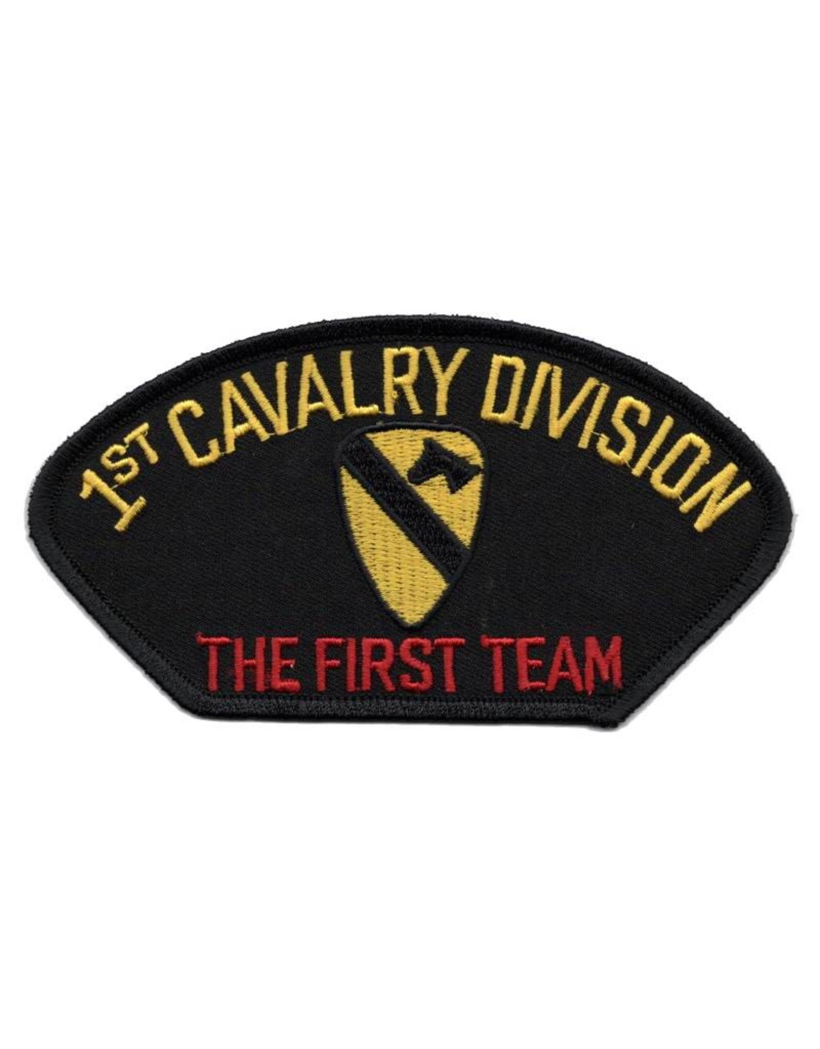 """MidMil Embroidered 1st Cavalry DivisionPatch with Emblem and """"The First Team"""""""