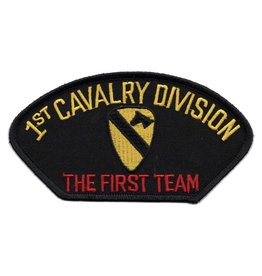 MidMil Embroidered 1st Cavalry DivisionPatch with Emblem and Motto