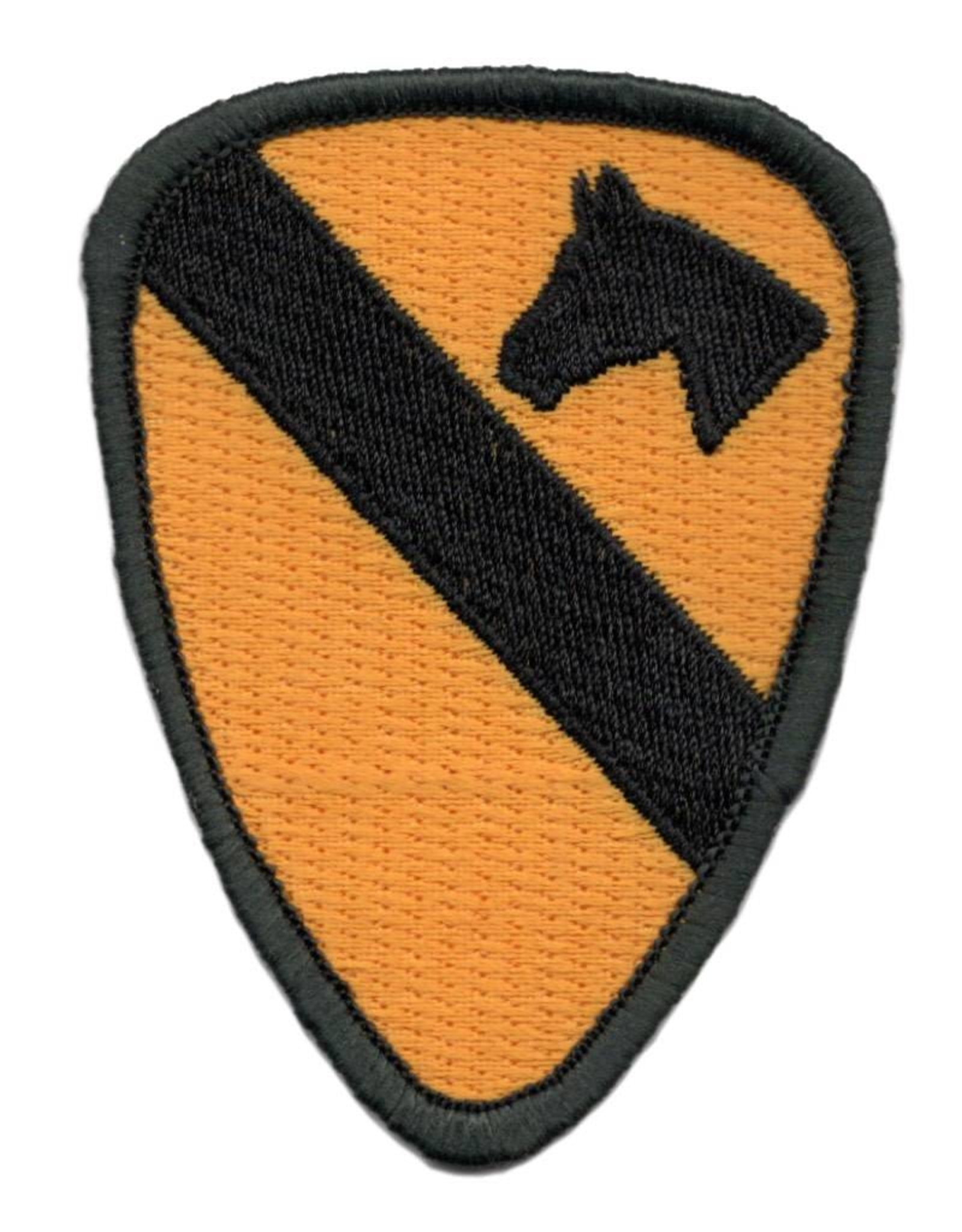 "MidMil Embroidered 1st Cavalry Division Emblem Patch 2.3"" wide x 3.2"" high"