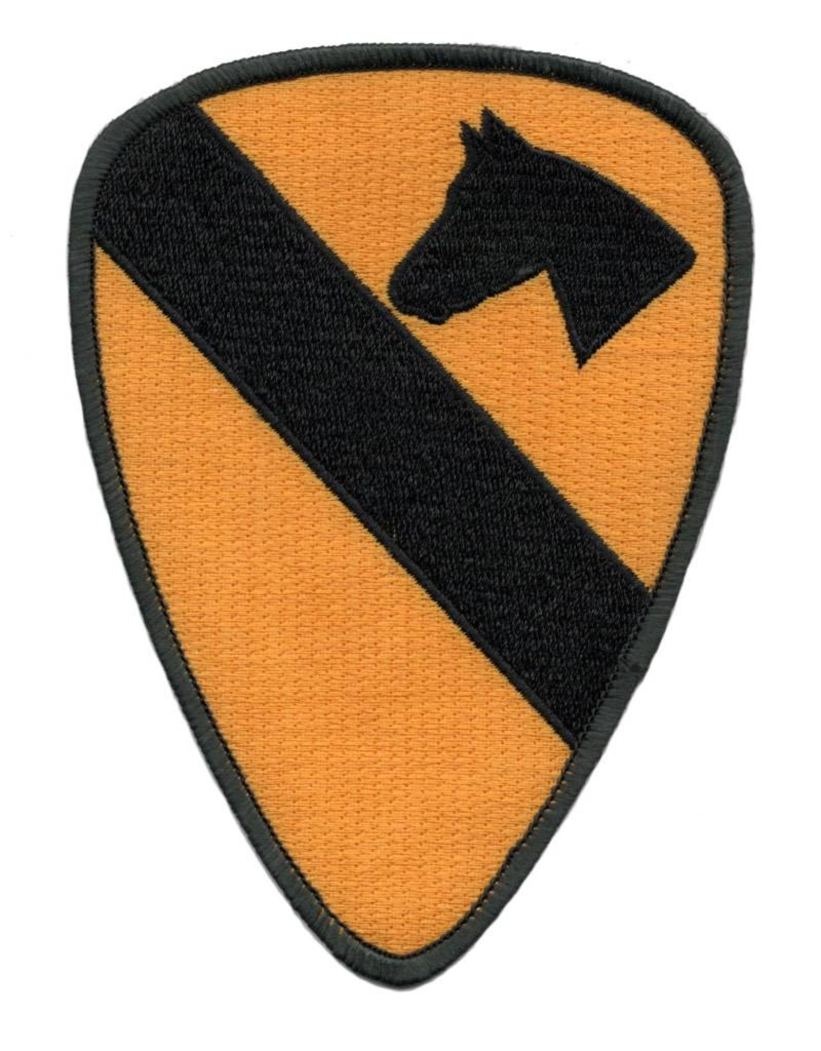 "MidMil Embroidered 1st Cavalry Division Emblem Patch. 3.9"" wide x 5.4"" high"