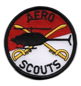 "MidMil Embroidered 6th Cavalry Patch with "" Aero Scouts"""