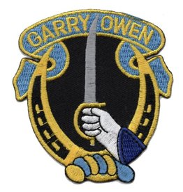 "MidMil Embroidered 7th Cavalry Patch with ""Garry Owen"""
