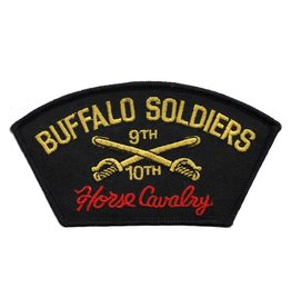 Embroidered 9th & 10th Cavalry Patch with Emblem and Motto