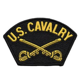 Embroidered U. S. Cavalry Patch with Emblem
