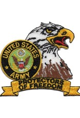 "MidMil Embroidered Army Eaglehead with Seal Patch with ""Protectors of Freedom"" Banner"