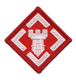 MidMil Embroidered Army 20th Engineer Brigade Emblem Patch