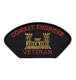 MidMil Embroidered Army Combat Engineer Veteran Patch with Emblem