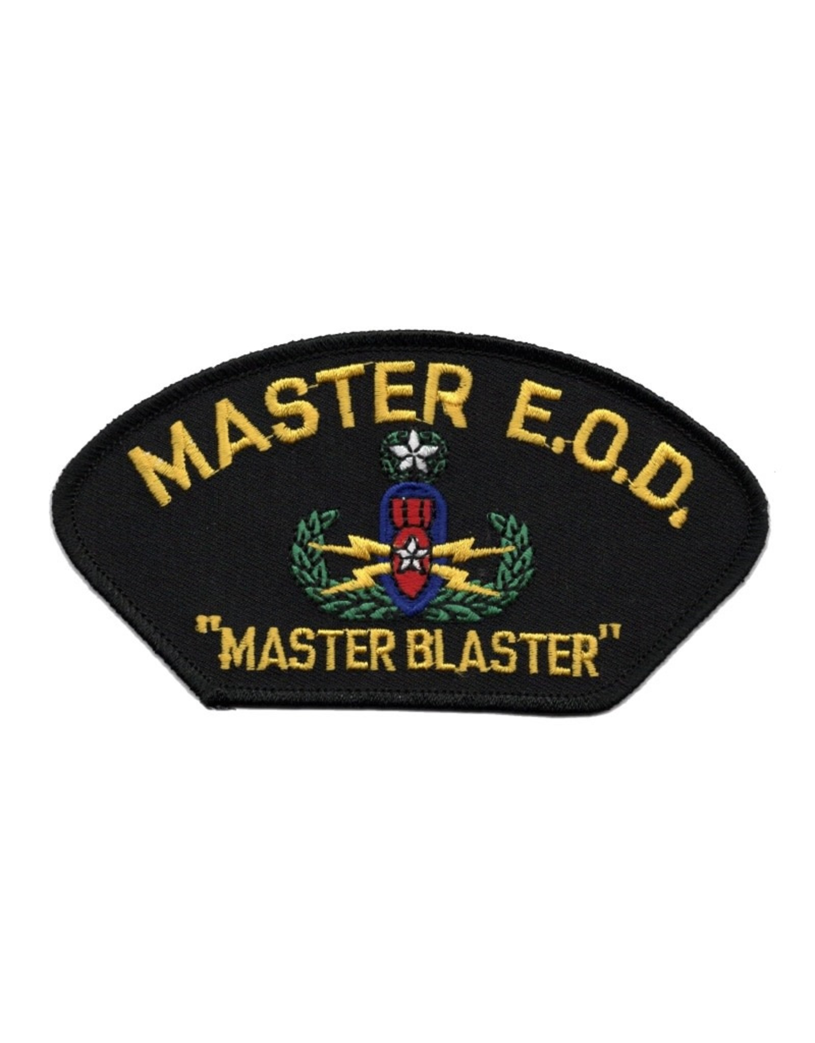 """MidMil Embroidered Master E.O.D. Patch with Emblem and """"Master Blaster"""""""