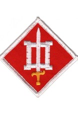 MidMil Embroidered Army 18th Engineer Brigade Emblem Patch