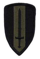 MidMil Embroidered Subdued Army Ground Forces Patch Olive Drab on  Black