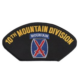 MidMil Emboidered 10th Mountain Infantry Division Patch with Emblem