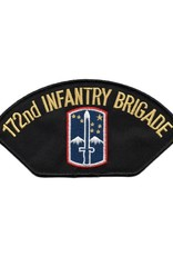 """MidMil Embroidered 172nd Infantry Brigade Patch with Emblem 5.9"""" wide x 3"""" high"""