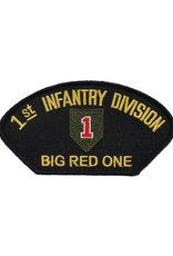 """MidMil Embroidered 1st Infantry Division Patch with Emblem and Motto """"Big Red One"""" 5.3"""" wide x 2.8"""" high"""
