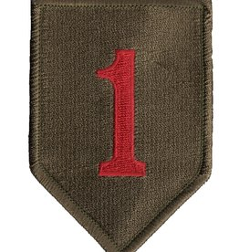 "MidMil Embroidered 1st Infantry Division Emblem Patch 2.4"" wide x 3.6"" high"