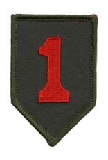 """MidMil Embroidered 1st Infantry Division Emblem Patch 2"""" wide x 3"""" high"""