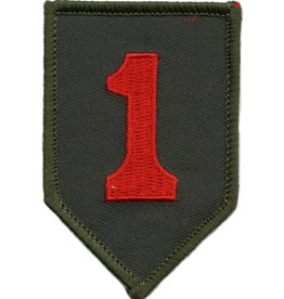 "MidMil Embroidered 1st Infantry Division Emblem Patch 2"" wide x 3"" high"