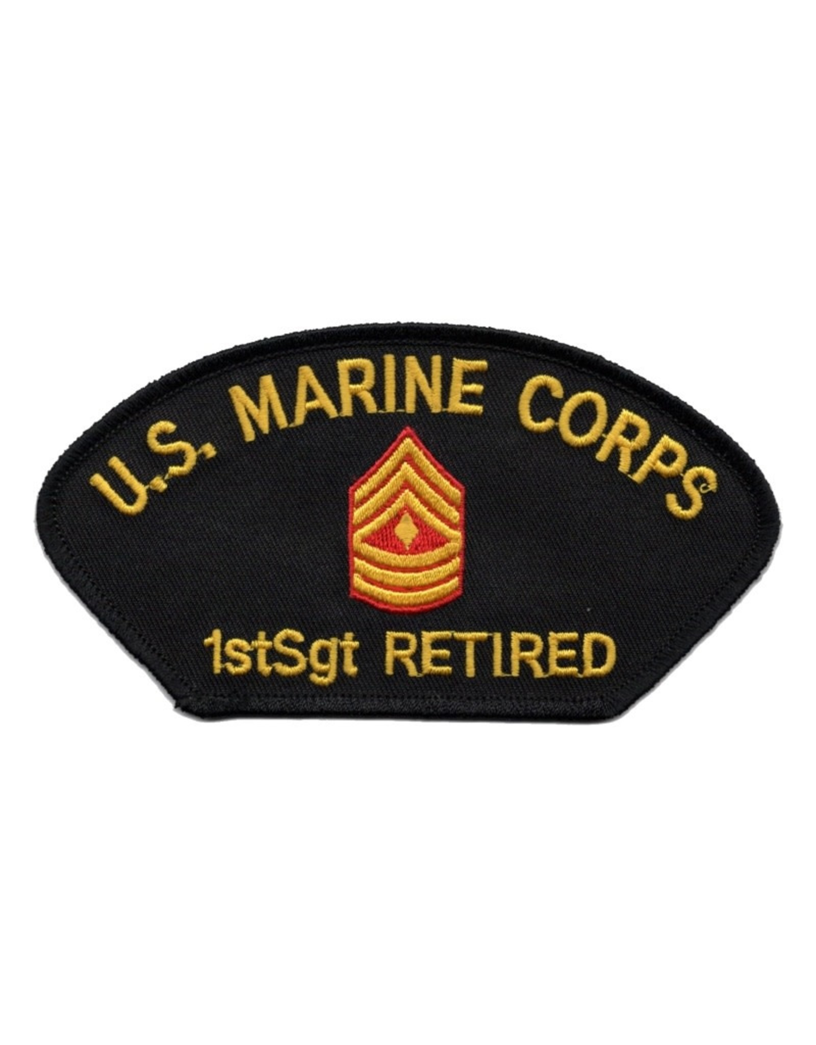 MidMil Embroidered Marine 1stSgt (E-8) Retired Patch