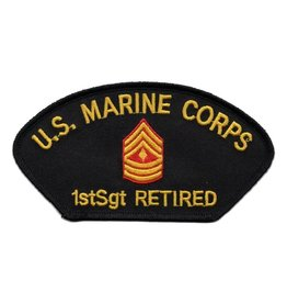 Embroidered Marine 1stSgt Retired Patch
