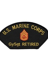 MidMil Embroidered Marine GySgt (E-7) Retired Patch