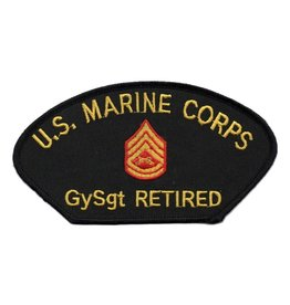 MidMil Embroidered Marine GySgt Retired Patch