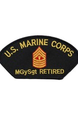 MidMil Embroidered Marine MGySgt (E-9) Retired Patch