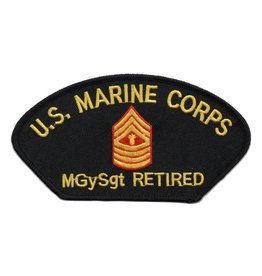 MidMil Embroidered Marine MGySgt Retired Patch