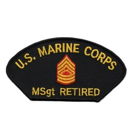 MidMil Embroidered Marine MSgt Retired Patch
