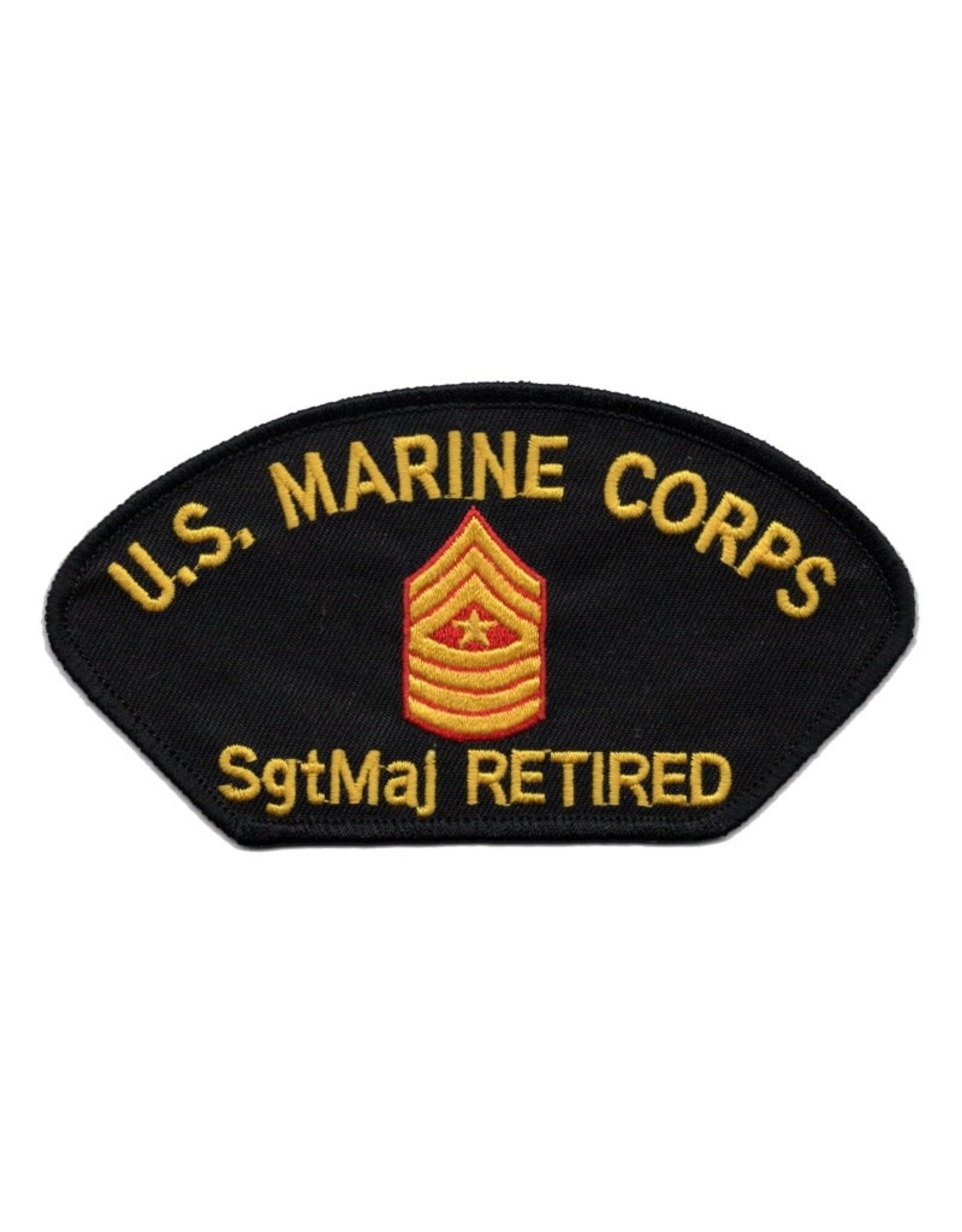 MidMil Embroidered Marine SgtMaj (E-9) Retired Patch