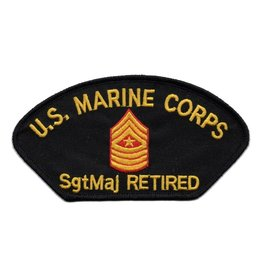 MidMil Embroidered Marine SgtMaj Retired Patch